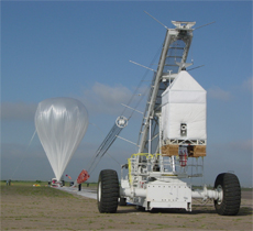 image of a high-altitude balloon launch